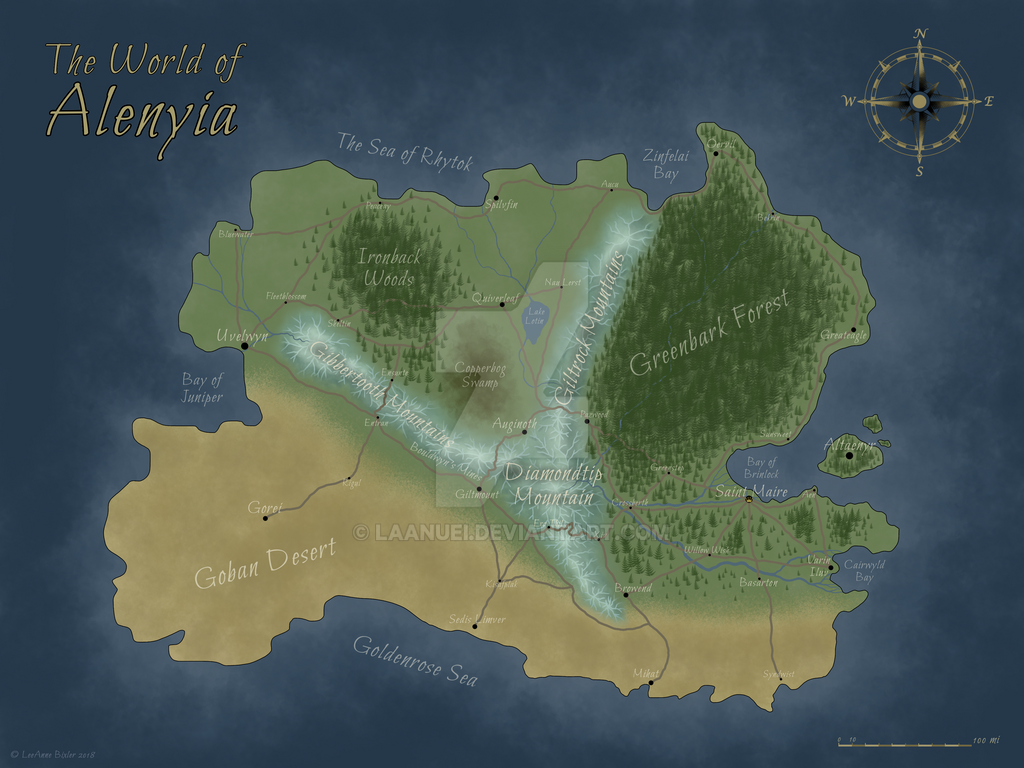 Fantasy Map Commission by Laanuei