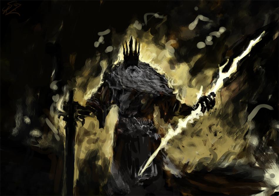 Gwyn, Lord of Cinder by Halycon450