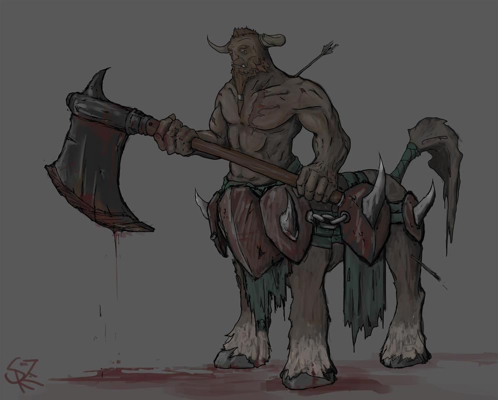 bradwarden the centaur warrunner by halycon450 on deviantart