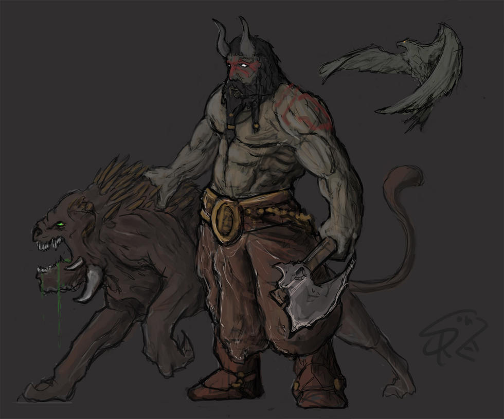 karroch the beastmaster by halycon450 on deviantart
