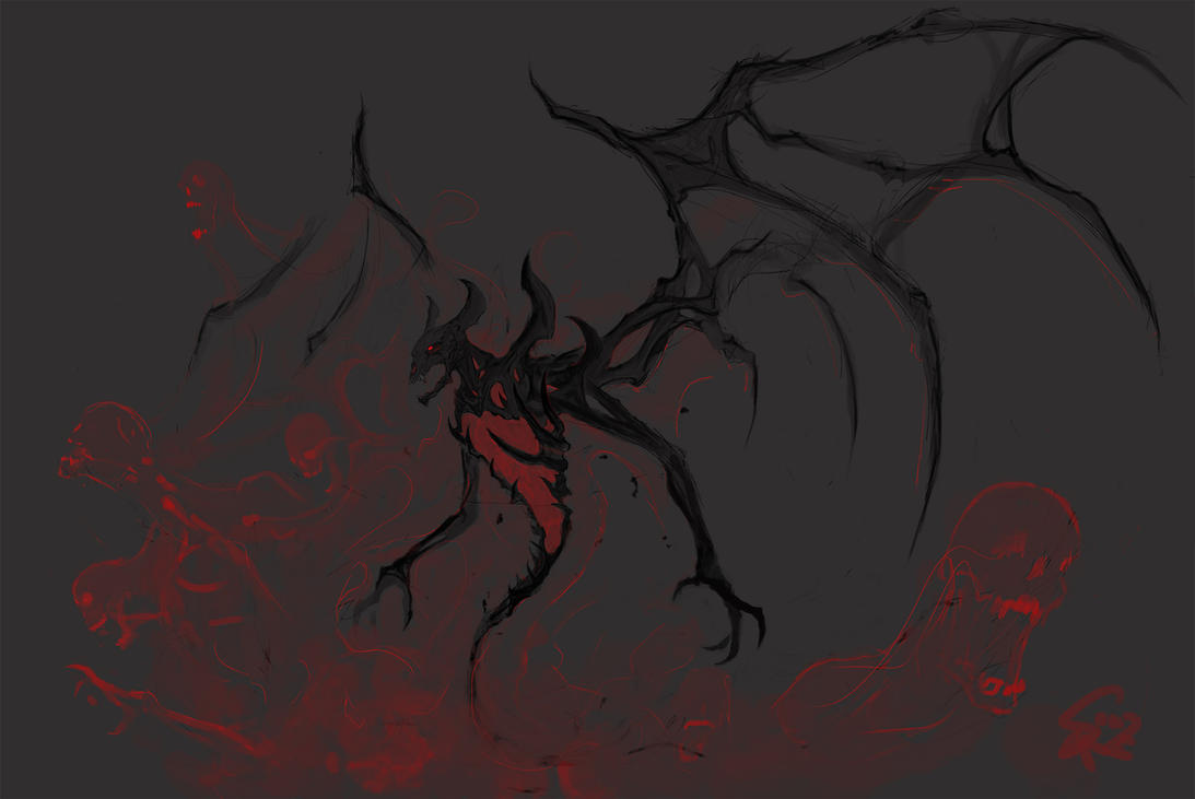Nevermore, the Shadow Fiend by Halycon450