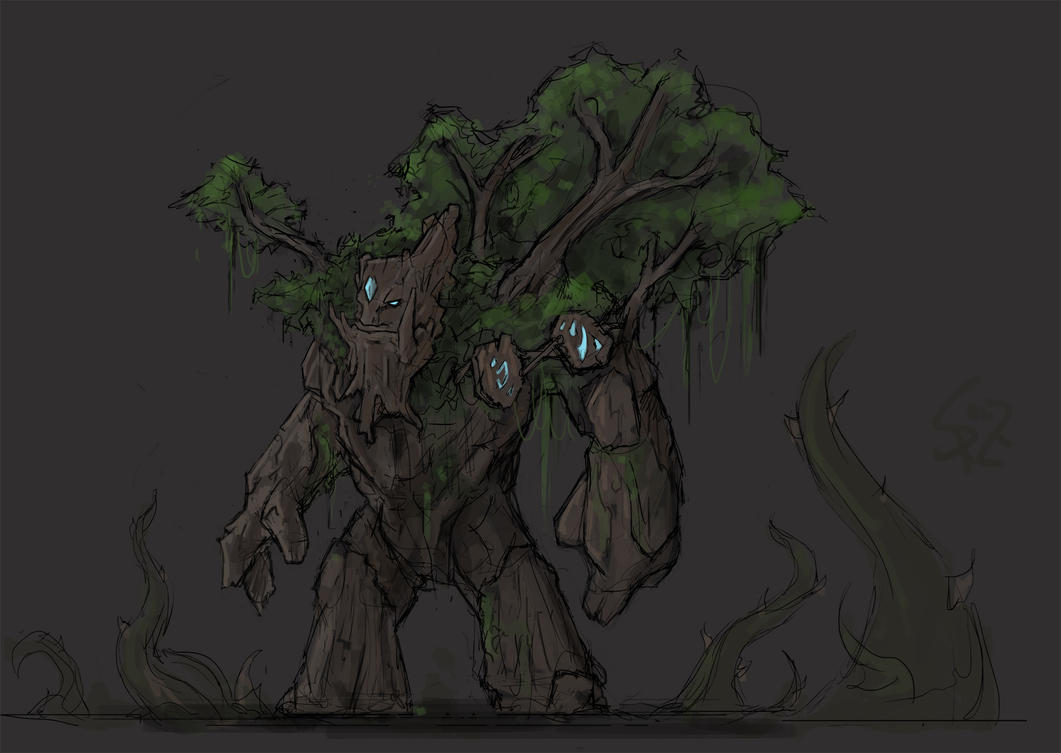 rooftrellen the treant protector by halycon450 on deviantart