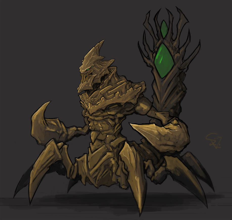 crixalis the sand king by halycon450 on deviantart