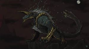 Zinogre, the Thunder Wolf Wyvern by Halycon450