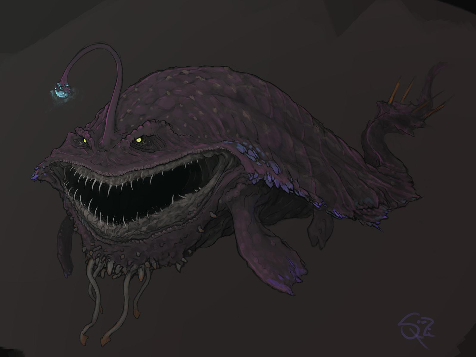 Gobul, the Lantern Fish Wyvern by Halycon450 on DeviantArt: halycon450.deviantart.com/art/Gobul-the-Lantern-Fish-Wyvern-453833867