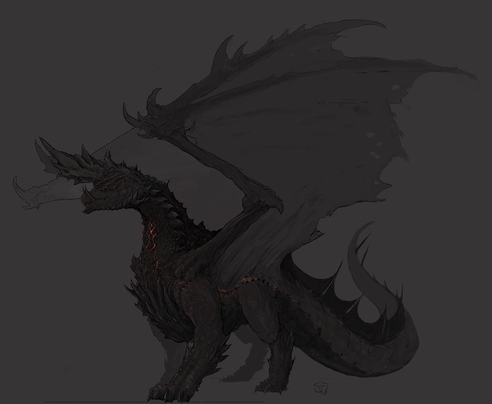Alatreon, the Blazing Black Dragon by Halycon450
