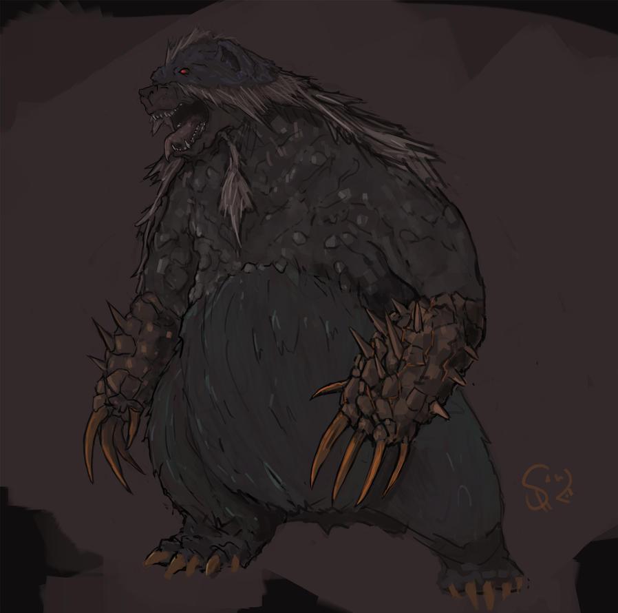 Azuros, the Blue Bear Beast by Halycon450