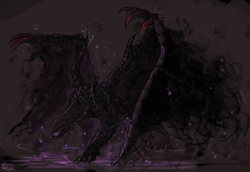 Gore Magala, the Black Eclipse Wyvern