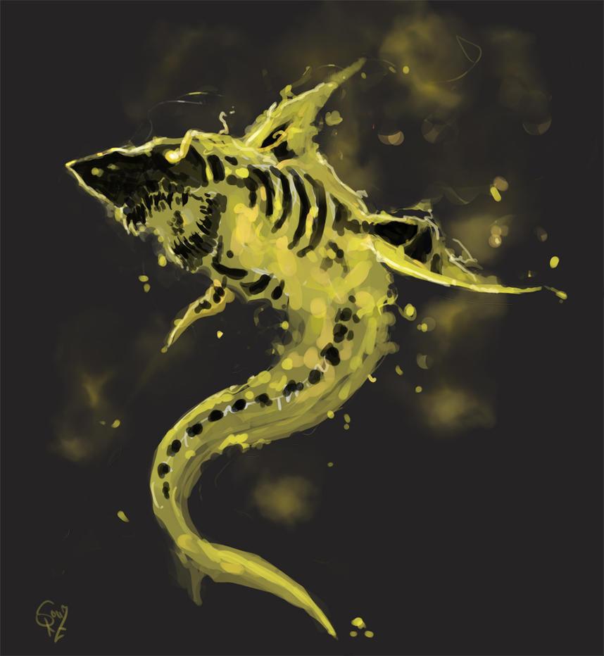 flaming skeleton shark by halycon450 on deviantart