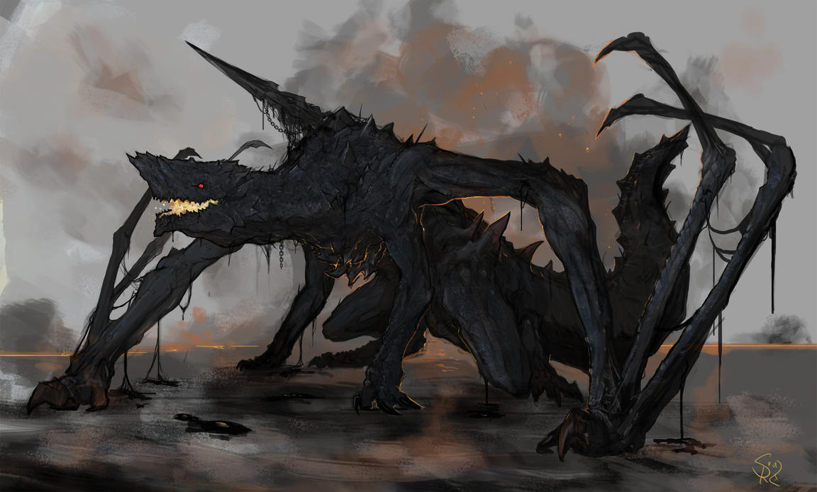 Gogmazios, the Giant Halberd Dragon by Halycon450