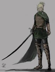Elf Fighter by Halycon450