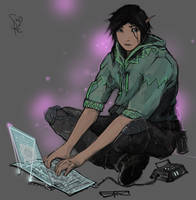 Shadowrun Elf Decker by Halycon450