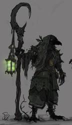 Kenku Druid by Halycon450