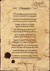 Poema: Desisto