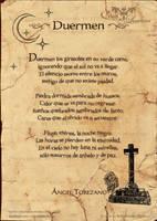 Poema: Duermen
