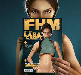 Lara Croft FHM Cover by MadSpike