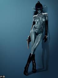 Dark Elf Assassin Michelle by MadSpike