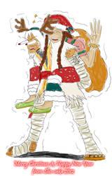 Ida Claus and Asha the Reindeer by Sho-saka