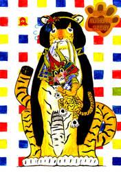 Ii Tiger and Cub by Sho-saka