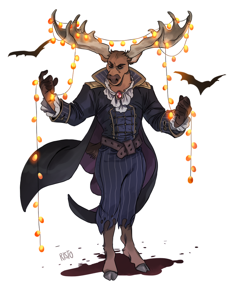 deer halloween by Risto-licious