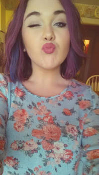 I have purple hair.