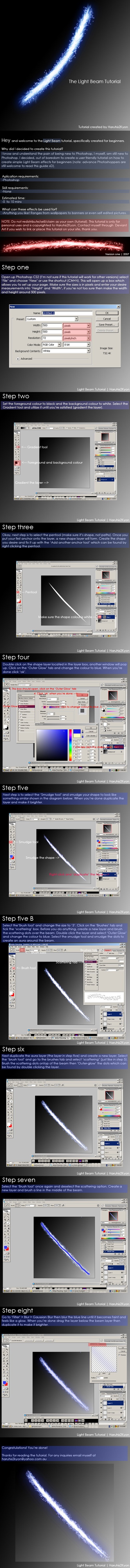 Light Beam Photoshop Tutorial by haruhis2kyon