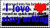 I Love Story Writing Stamp by BlazeCherry