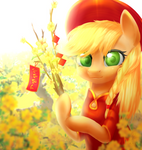 Apple Jack with Tet holiday by ZukiQ314