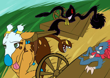 PMD Unity - Team GoldStar Cart Race by Shirou14