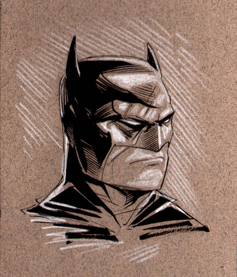 Batman Head Sketch By MaxAlanFuchs On DeviantArt