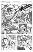 Punisher vs. Mandrill 2.0 pg.1 by MaxAlanFuchs