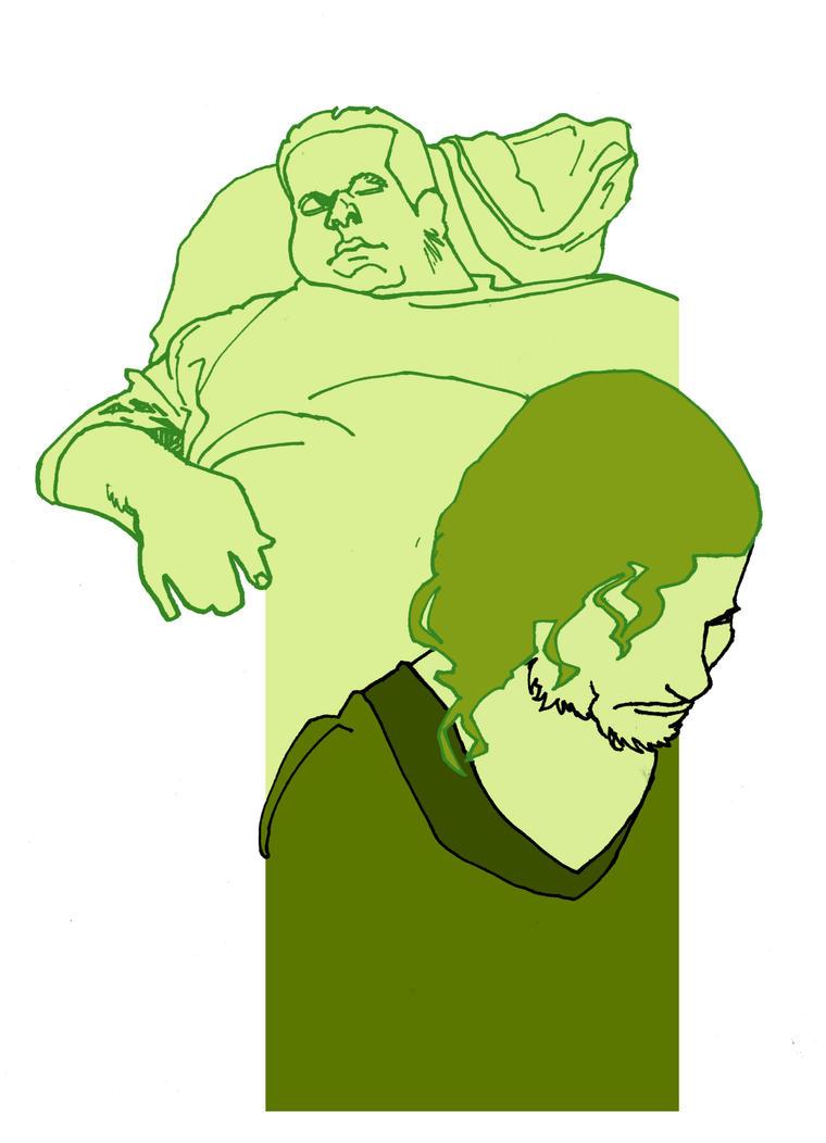 Sleeping Guy and Jax by MaxAlanFuchs