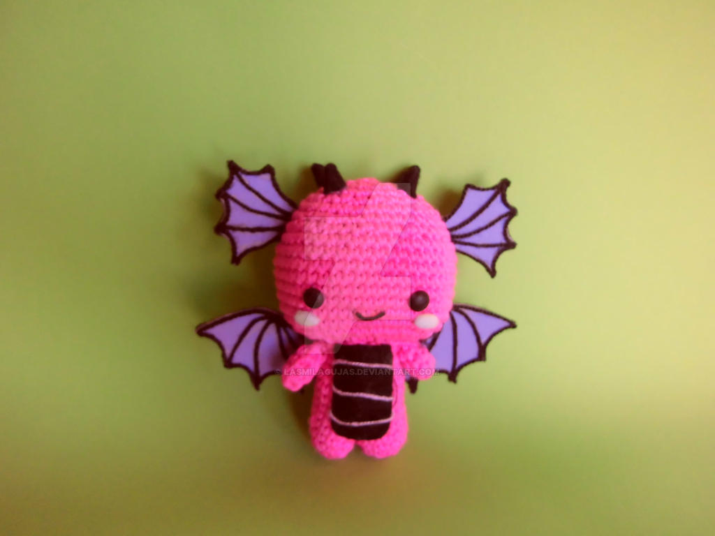 Crochet Amigurumi Dragon : Amigurumi pink dragon crochet by lasmilagujas on deviantart