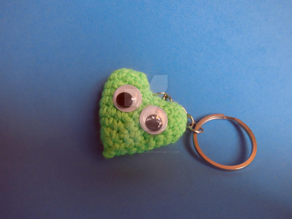 Amigurumi Magische Ring : Amigurumi Heart - key ring - crochet by LasMilAgujas on ...