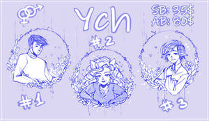 [OPEN] YCH: Circle of flowers by NeroKim