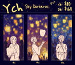 [OPEN] YCH: Sky lanterns