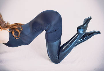 Ally in Latex Stockings