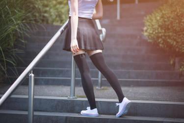 Zettai Ryouiki on the Steps