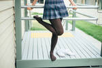 That day she took her shoes off after class