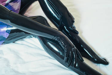 Latex gloves and stockings
