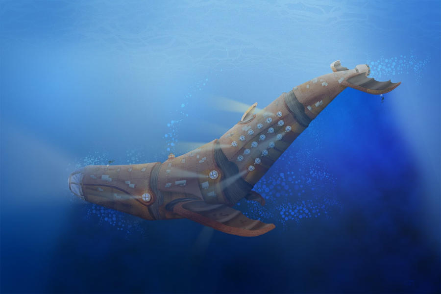 Steampunk Whale by CurtisRU