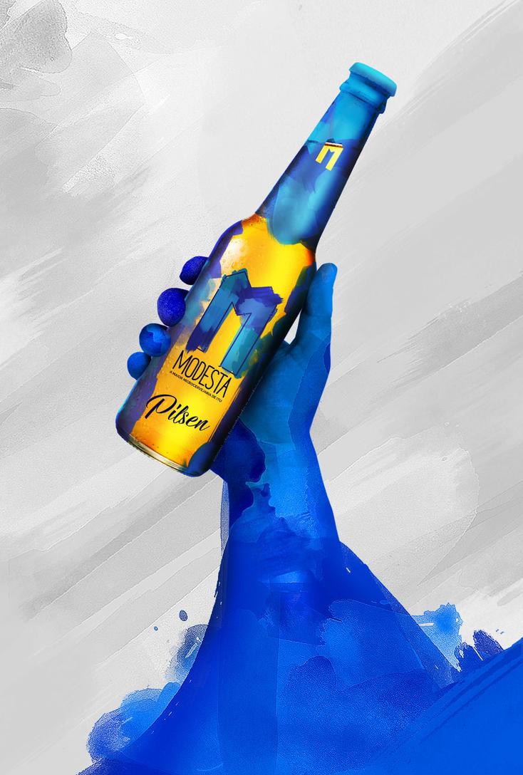 Cerveja Modesta - POSTER PILSEN #1 by nathangon