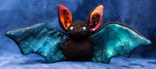 Galaxy Themed Bat by heytherejustine
