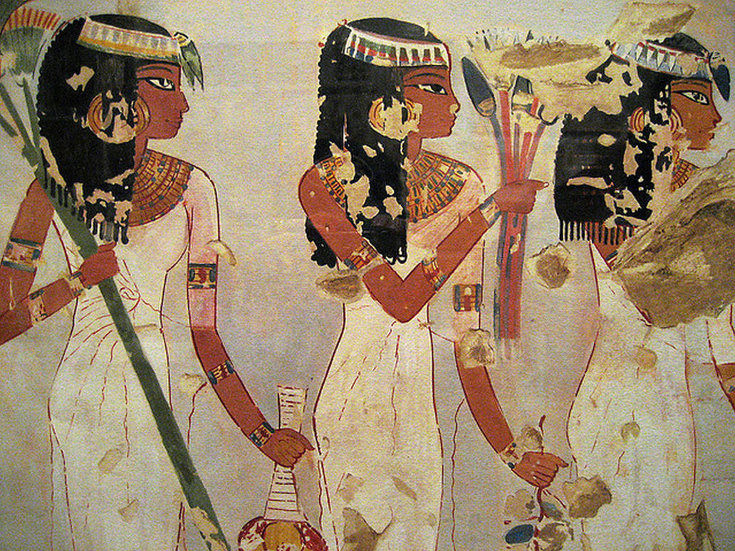 Egyptian paintings by liviusquinky on deviantart for Egyptian mural art