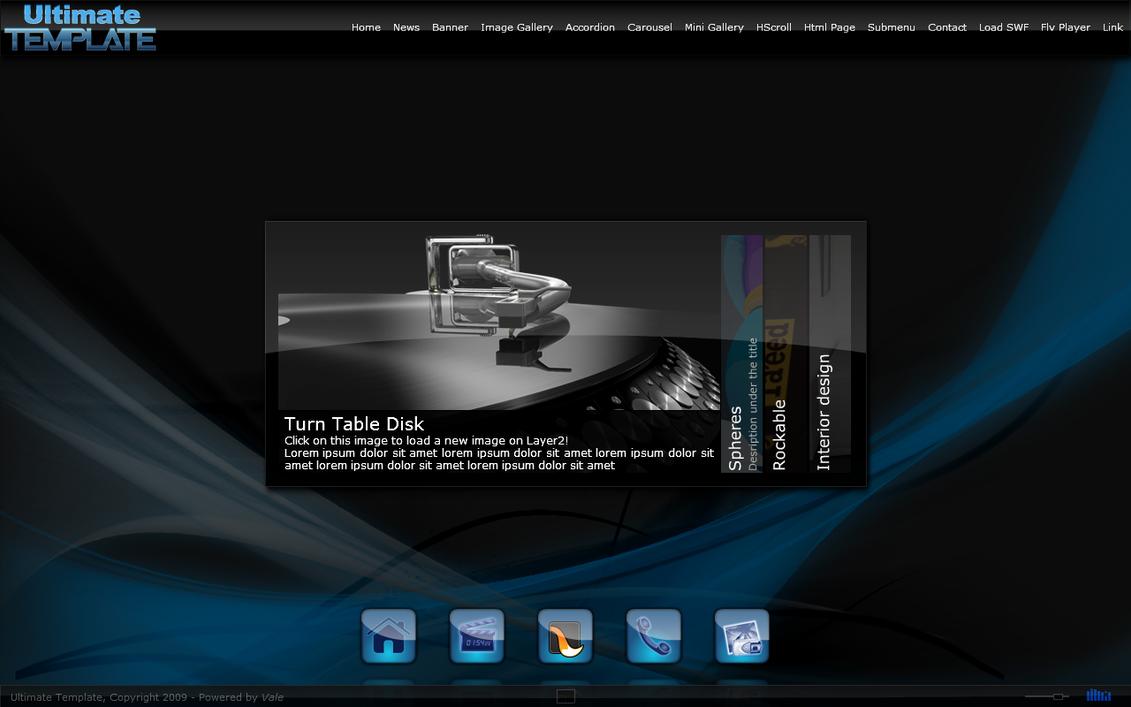 Flash Website - Accordion by vale21 on DeviantArt