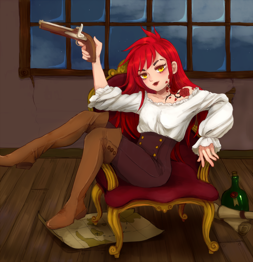 In the captain's quarters by mikimanni