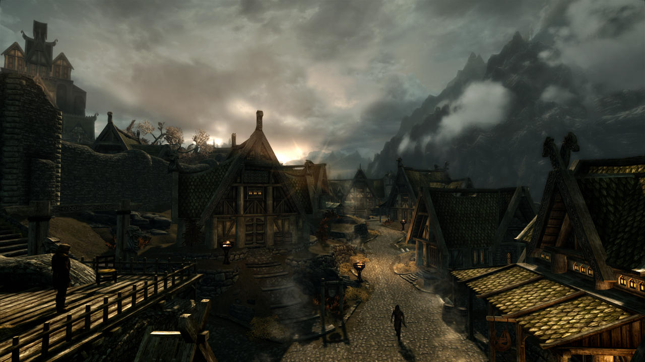 Dawn in Whiterun RCRN 3.5 + by lupusmagus
