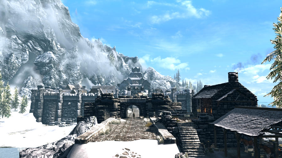 A bright winters day in Windhelm #2 - RCRN 3.5 by lupusmagus
