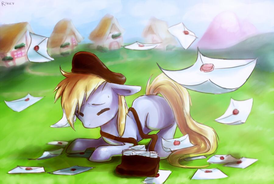 Derpy lost her letters by RikkuTakedo