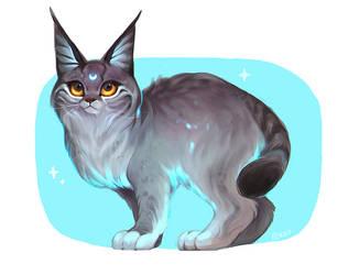 Lunar lynx by Rikku-nyan